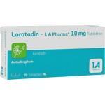 Verpackungsbild(Packshot) von LORATADIN-1A Pharma Tabletten