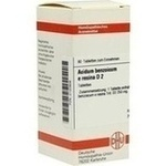 Verpackungsbild(Packshot) von ACIDUM BENZOICUM E Resina D 2 Tabletten