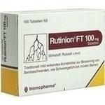 Verpackungsbild(Packshot) von RUTINION FT 100 mg Tabletten