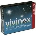Verpackungsbild(Packshot) von VIVINOX Night Einschlafdragees überzogene Tab.