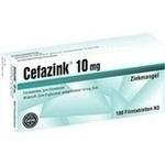 Verpackungsbild(Packshot) von CEFAZINK 10 mg Filmtabletten