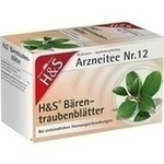 Verpackungsbild(Packshot) von H&S Bärentraubentee Filterbeutel