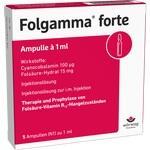 Verpackungsbild(Packshot) von FOLGAMMA forte Ampullen