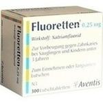 Verpackungsbild(Packshot) von FLUORETTEN 0,25 mg Tabletten