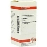 Verpackungsbild(Packshot) von SABINA D 4 Tabletten