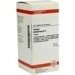 Verpackungsbild(Packshot) von ZINCUM METALLICUM D 3 Tabletten