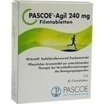 Verpackungsbild(Packshot) von PASCOE-Agil 240 mg Filmtabletten