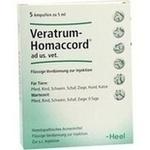 Verpackungsbild(Packshot) von VERATRUM HOMACCORD ad us.vet.Ampullen