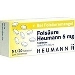 Verpackungsbild(Packshot) von FOLSÄURE HEUMANN 5 mg Tabletten