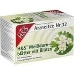 Verpackungsbild(Packshot) von H&S Weißdornblätter mit Blüten Filterbeutel