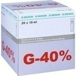 GLUCOSE 40% B.Braun Mini Plasco connect Inf.-L.-K.