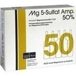 Verpackungsbild(Packshot) von MG 5 Sulfat Amp. 50% Infusionslösungskonzentrat