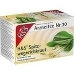 Verpackungsbild(Packshot) von H&S Spitzwegerichkraut Filterbeutel