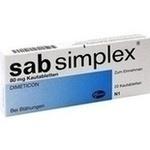 Verpackungsbild(Packshot) von SAB simplex Kautabletten