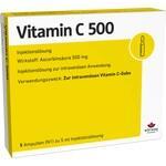 Verpackungsbild(Packshot) von VITAMIN C 500 Ampullen