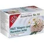 Verpackungsbild(Packshot) von H&S Magen- und Darmtee mild Filterbeutel