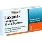 Verpackungsbild(Packshot) von LAXANS-ratiopharm 10 mg Zäpfchen