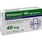 Verpackungsbild(Packshot) von VOMACUR 40 Suppositorien