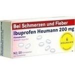 Verpackungsbild(Packshot) von IBUPROFEN Heumann 200 mg Filmtabletten