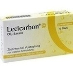Verpackungsbild(Packshot) von LECICARBON E CO2 Laxans Erwachsenensuppositorien