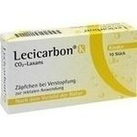 Verpackungsbild(Packshot) von LECICARBON K CO2 Laxans Kindersuppositorien