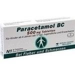 Verpackungsbild(Packshot) von PARACETAMOL BC 500 mg Tabletten