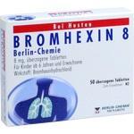 Verpackungsbild(Packshot) von BROMHEXIN 8 Berlin Chemie überzogene Tabletten