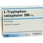 Verpackungsbild(Packshot) von L-TRYPTOPHAN-RATIOPHARM 500 mg Filmtabletten