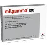 Verpackungsbild(Packshot) von MILGAMMA 100 mg überzogene Tabletten