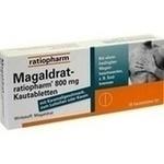 Verpackungsbild(Packshot) von MAGALDRAT-ratiopharm 800 mg Tabletten