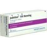 Verpackungsbild(Packshot) von JODETTEN 100 Henning Tabletten
