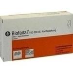 Verpackungsbild(Packshot) von BIOFANAL Kombip. 25g Salbe + 6 Vag.Tbl.