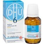 Verpackungsbild(Packshot) von BIOCHEMIE DHU 6 Kalium sulfuricum D 6 Tab.Karto