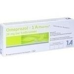 Verpackungsbild(Packshot) von OMEPRAZOL-1A Pharma 20 mg bei Sodbrennen HKM