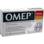 Verpackungsbild(Packshot) von OMEP HEXAL 20 mg magensaftresistente Tabletten