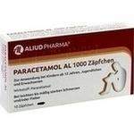 Verpackungsbild(Packshot) von PARACETAMOL AL 1.000 Suppositorien