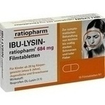 Verpackungsbild(Packshot) von IBU-LYSIN-ratiopharm 684 mg Filmtabletten