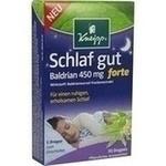 Verpackungsbild(Packshot) von KNEIPP Schlaf gut Baldrian 450 mg forte üb.Tab.