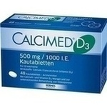 Verpackungsbild(Packshot) von CALCIMED D3 500 mg/1000 I.E. Kautabletten