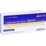 Verpackungsbild(Packshot) von LOPERAMID akut Aristo 2 mg Tabletten