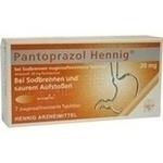 Verpackungsbild(Packshot) von PANTOPRAZOL Hennig b.Sodbrennen 20 mg msr.Tabl.