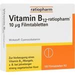 Verpackungsbild(Packshot) von VITAMIN B12-RATIOPHARM 10 μg Filmtabletten