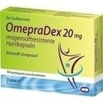 Verpackungsbild(Packshot) von OMEPRADEX 20 mg magensaftresistente Hartkapseln