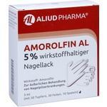 Verpackungsbild(Packshot) von AMOROLFIN AL 5% wirkstoffhaltiger Nagellack