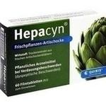 Verpackungsbild(Packshot) von HEPACYN Frischpflanzen Artischocke Filmtabletten