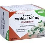 Verpackungsbild(Packshot) von PROTECOR Weißdorn 600 mg Filmtabletten