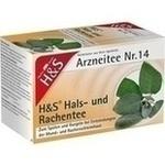 Verpackungsbild(Packshot) von H&S Hals- und Rachentee Filterbeutel