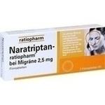 Verpackungsbild(Packshot) von NARATRIPTAN-ratiopharm bei Migräne Filmtabletten