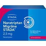 Verpackungsbild(Packshot) von NARATRIPTAN Migräne STADA 2,5 mg Filmtabletten