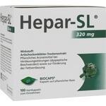 Verpackungsbild(Packshot) von HEPAR-SL 320 mg Hartkapseln